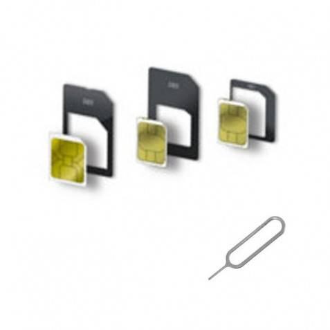 Adaptadores nano SIM/micro SIM/SIM con pincho