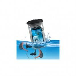 Bolsa y auriculares impermeables para móvil