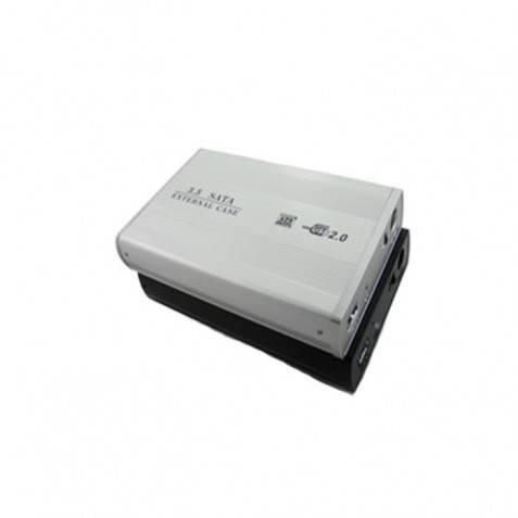"""Caja disco duro metal 3.5"""" SATA con cargador"""