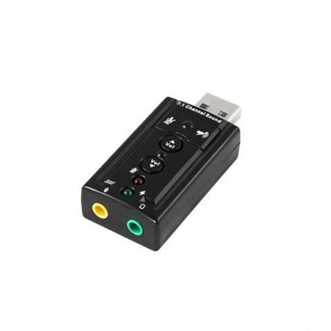 Tarjeta de sonido USB Externa 7.1