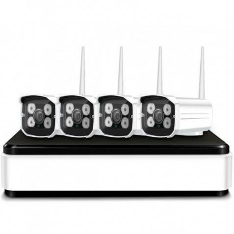 4 Cámaras Wireless NVR con grabación