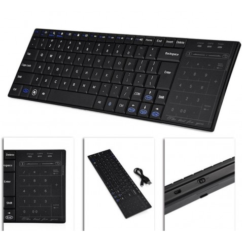 Teclador inalambrico con Touchpad