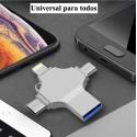 Pendrive 64GB 4en1 para movil