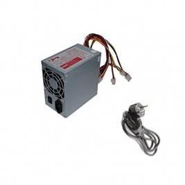 Fuente de alimentación PC 400W  ATX, 200V-240V, frecuencia: 50-60HZ. + Cable